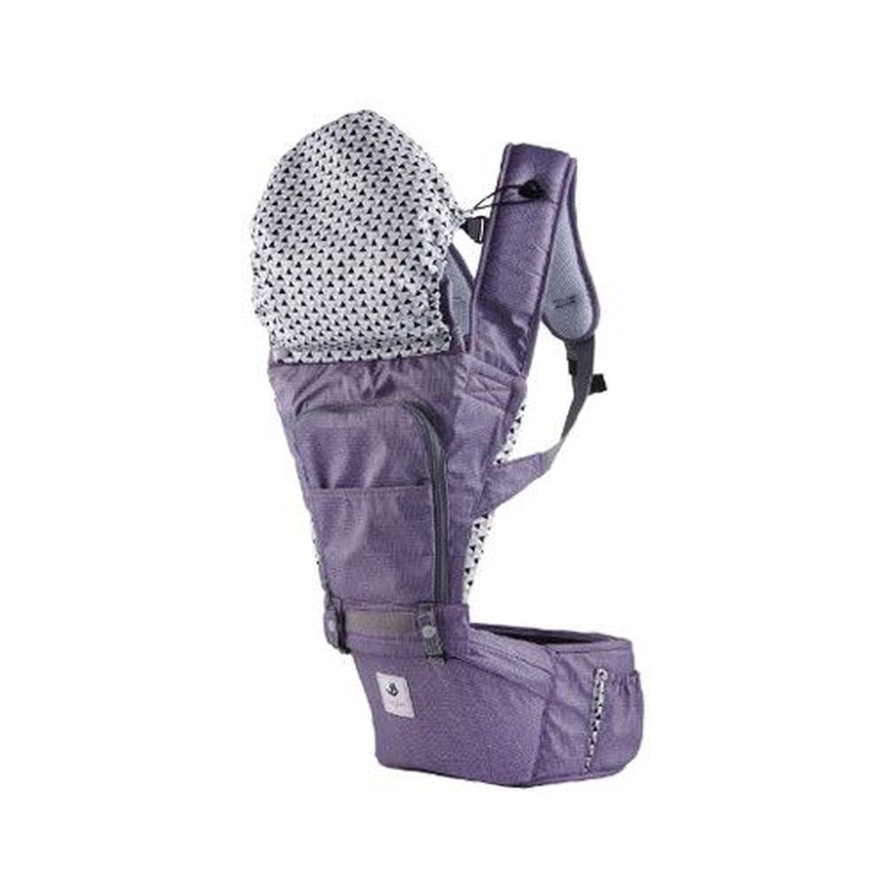 韓國 POGNAE - NO.5 超輕量機能坐墊型背巾-米蘭紫