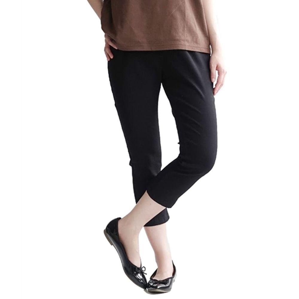 日本 zootie - Air Pants 輕薄彈性修身七分褲-黑