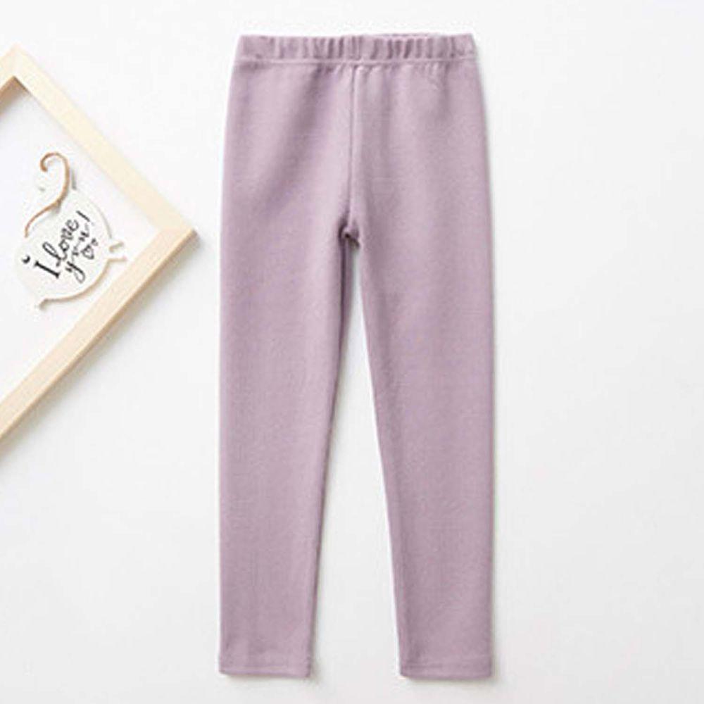 日本 TORIDORY - 舒適質感素色內搭褲-紫