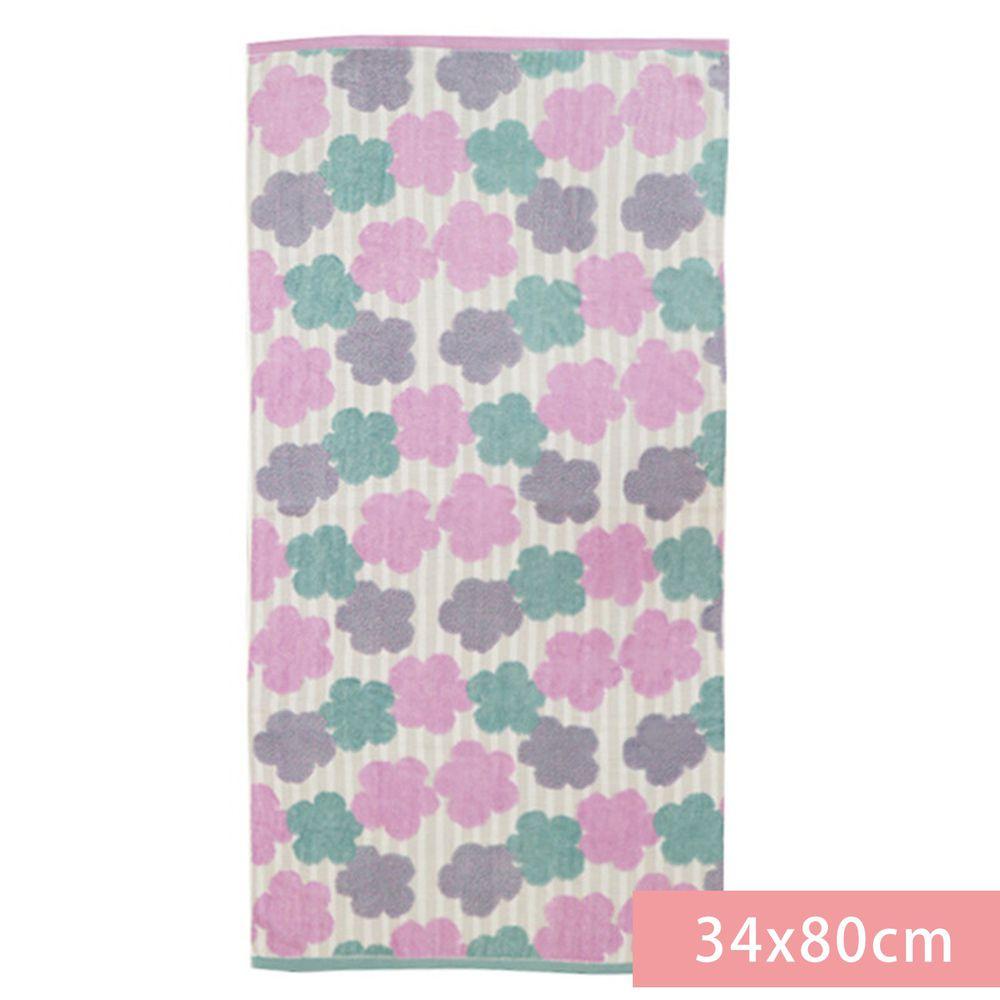 日本代購 - 【SOU·SOU】日本製今治純棉刺繡長毛巾-布芝空薔薇 (34x80cm)