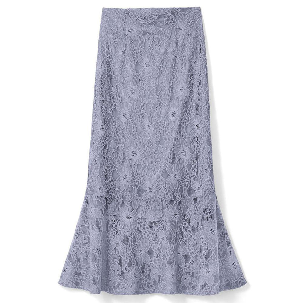 日本 GRL - 古典優雅蕾絲魚尾長裙-天空藍