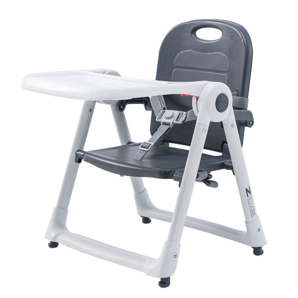 美國 ZOE - 可攜式折疊兒童餐椅-奢華灰
