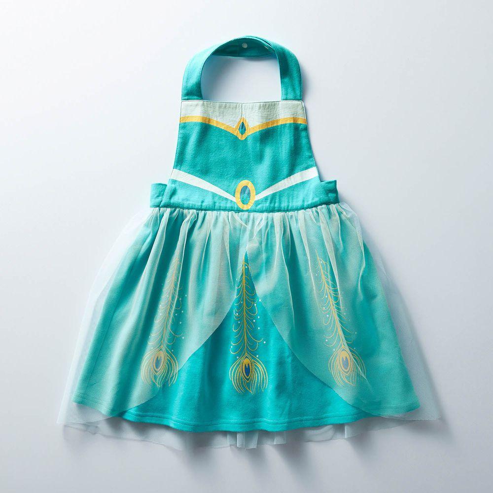 日本千趣會 - 迪士尼公主圍裙式洋裝-茉莉公主-薄荷