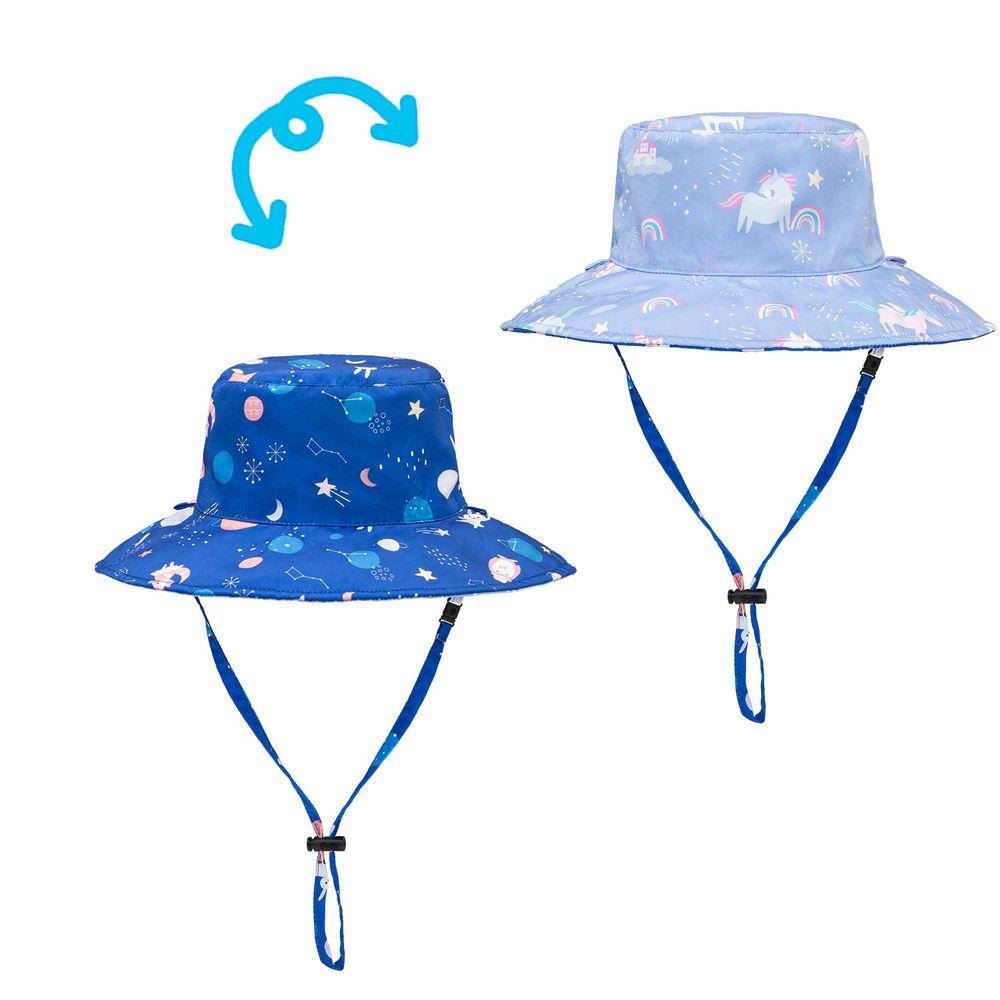 Brille Brille - 雙面防曬漁夫帽-太空漫舞 (3-6歲(頭圍45-55cm))-附收納網袋