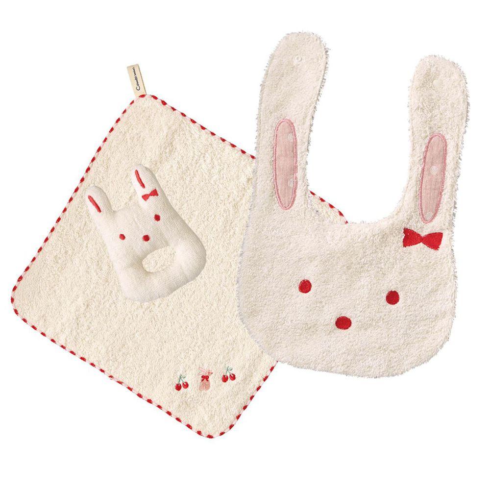 日本 Combi - mini系列-今治方巾歡心禮盒-紅 (F)