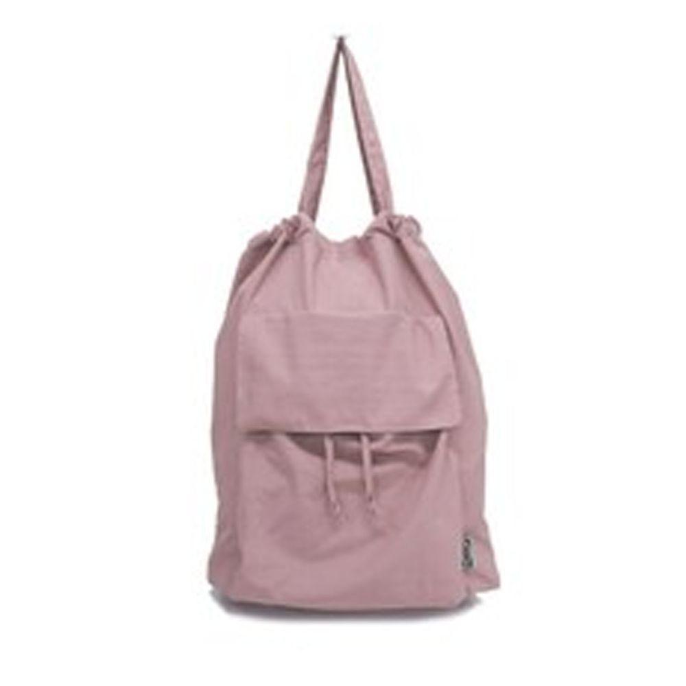日本 Chepeli - 防潑水文青風多口袋收納束口肩背包-星塵粉