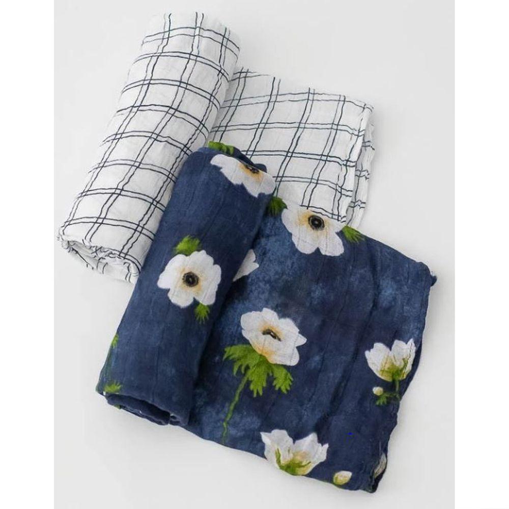 美國 Little Unicorn - 竹纖維紗布巾兩入組-鏡花水月 (120x120CM)