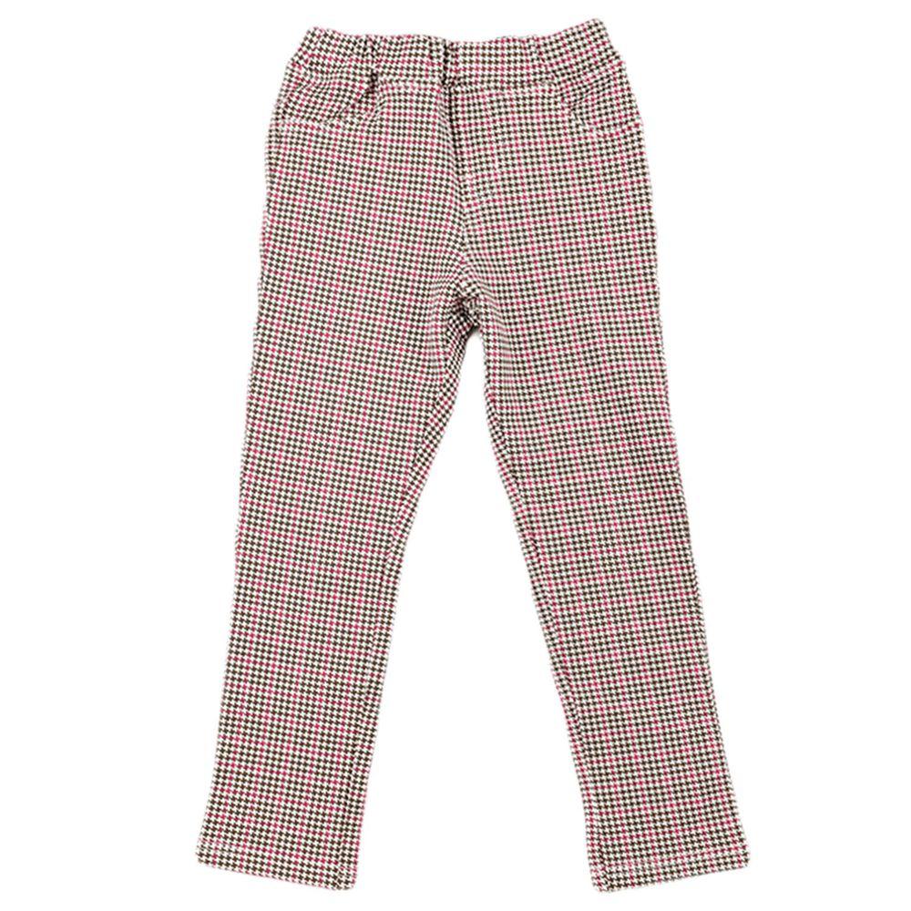 akachan honpo - 10分彈性褲-花紋-淺卡其色