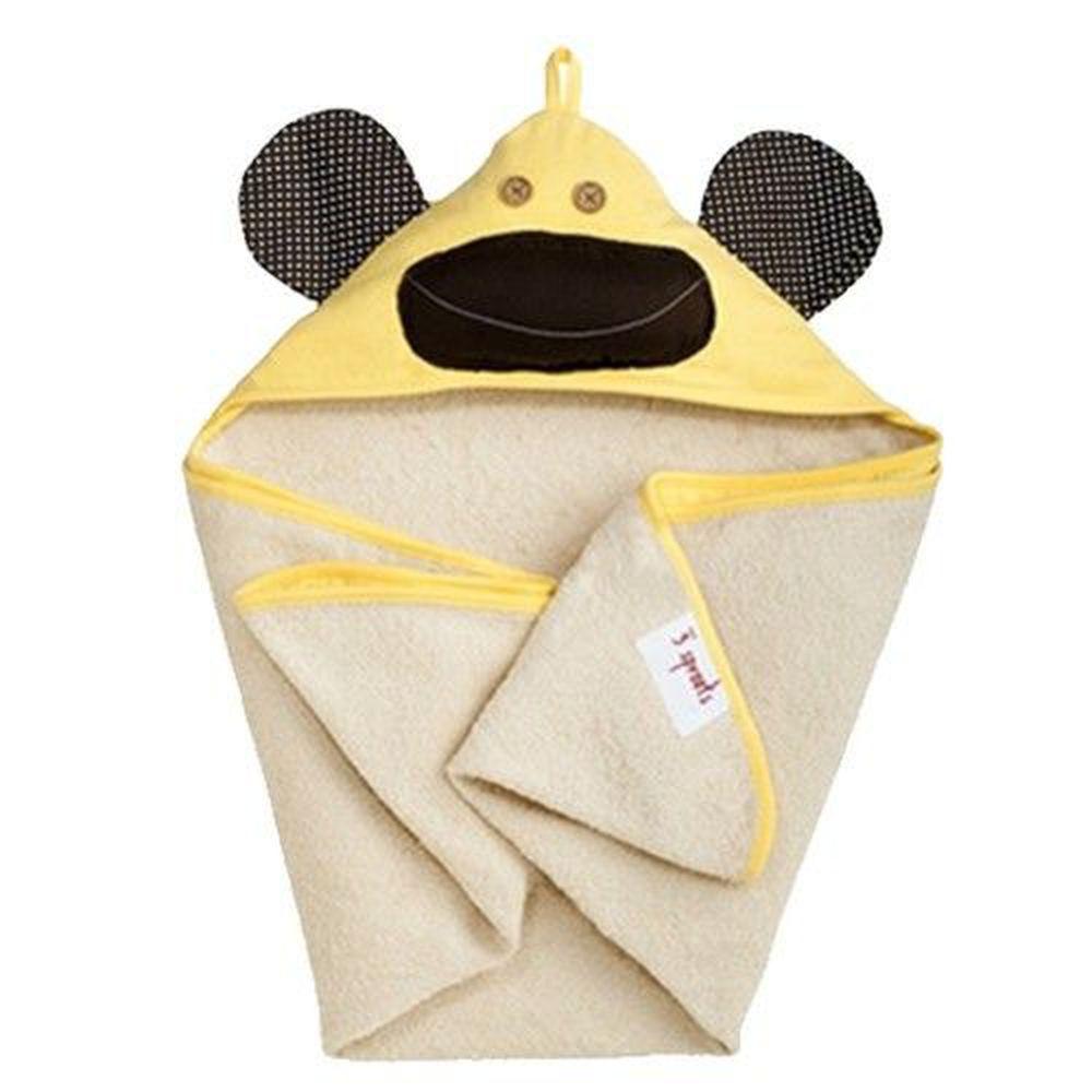 加拿大 3 Sprouts - 連帽浴巾-黃猴子