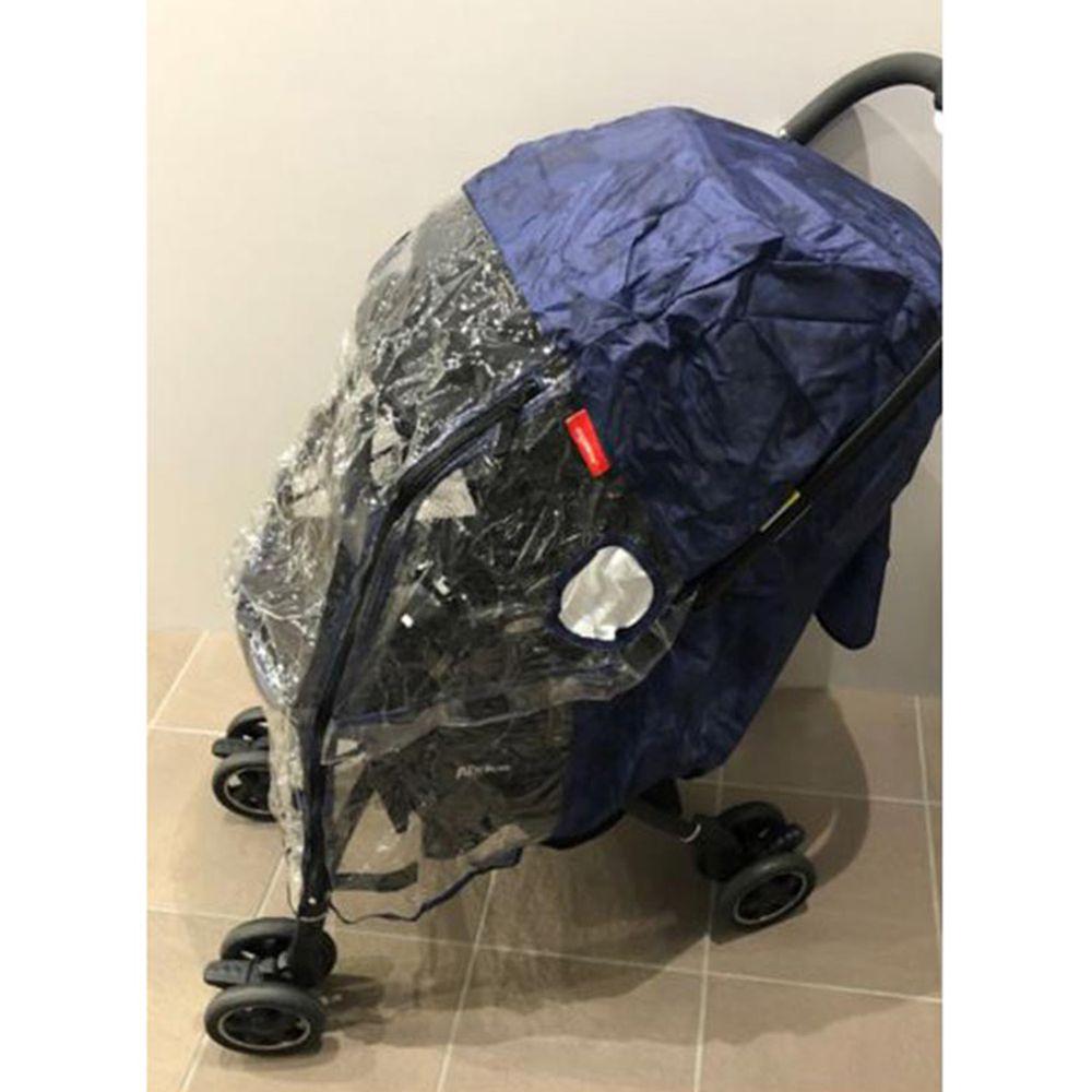 akachan honpo - angelette嬰兒推車用雨罩-深藍色