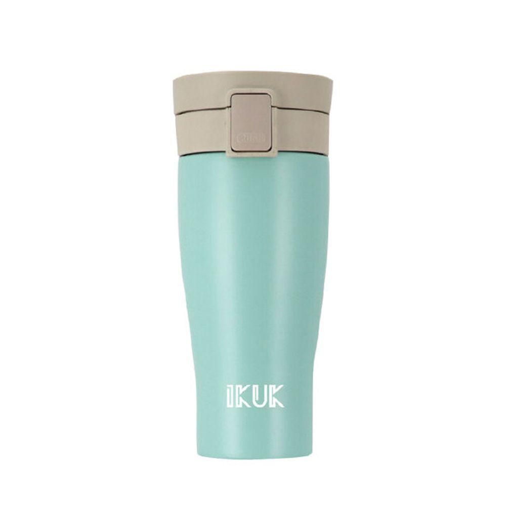 IKUK - 真空雙層內陶瓷保溫杯 大彈蓋-漾藍綠-520ML