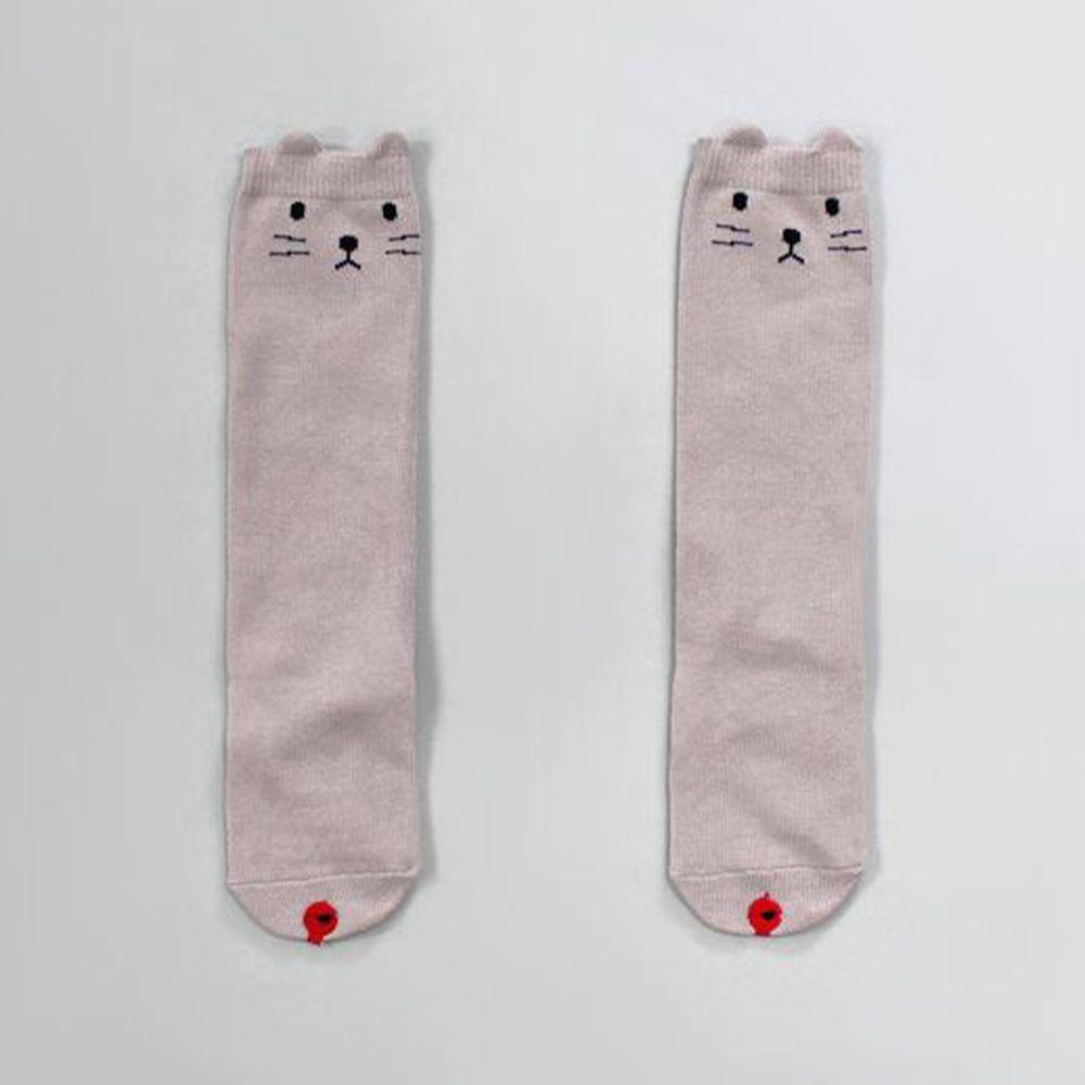 韓國 Kokacharm - 韓國製及膝襪-單件-Smally Cat (XL [20cm以上])