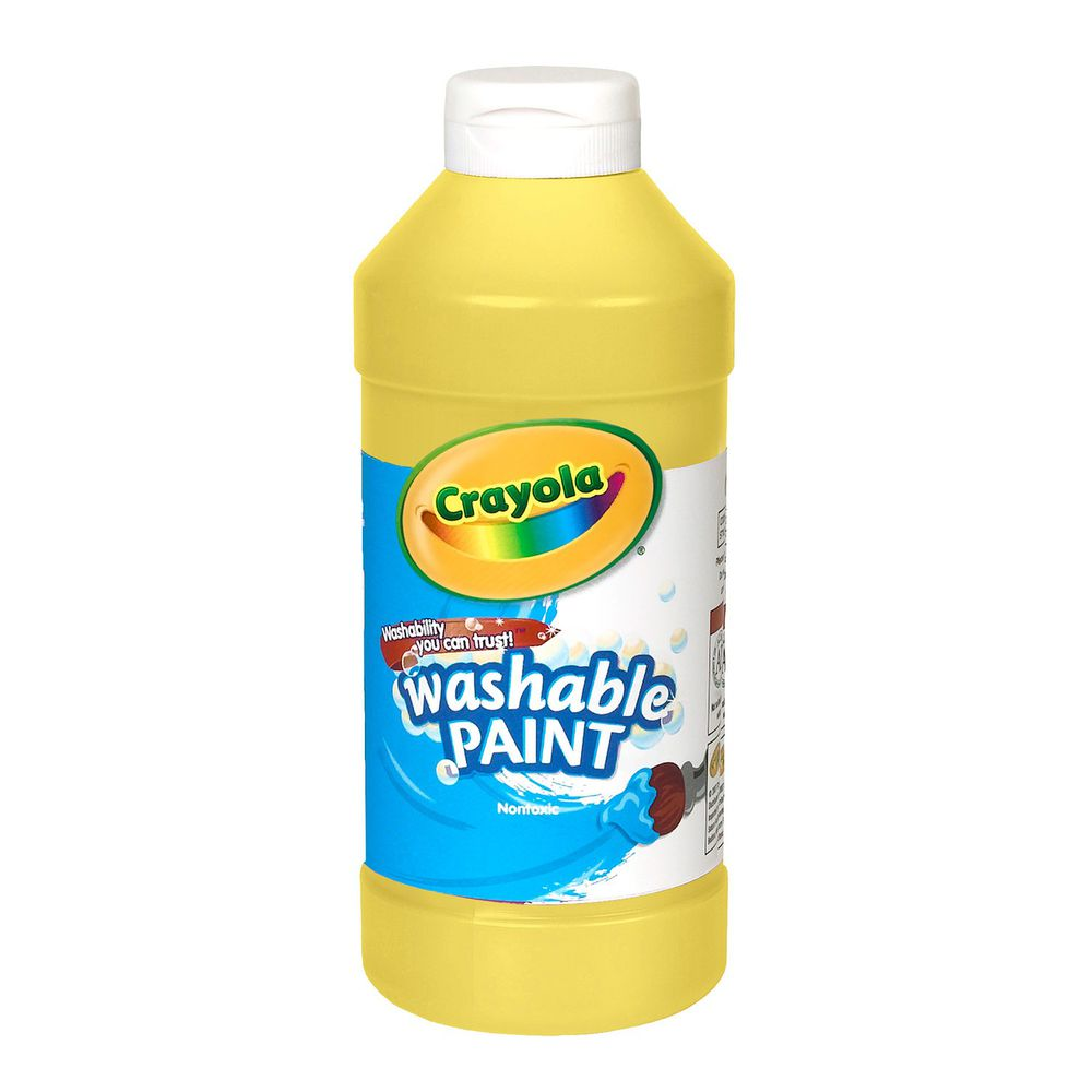 Crayola繪兒樂 - 可水洗兒童顏料16OZ-黃色