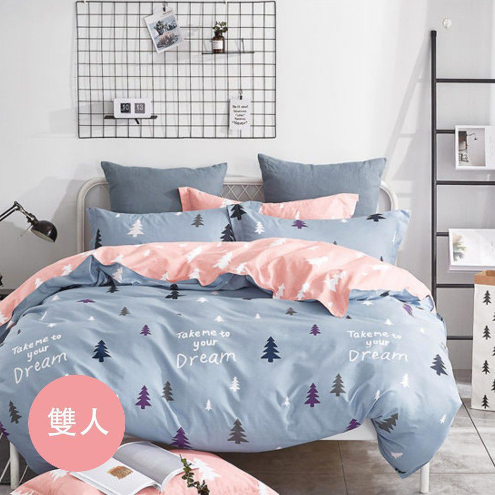 PureOne - 極致純棉寢具組-伊頓莊園-雙人三件式床包組