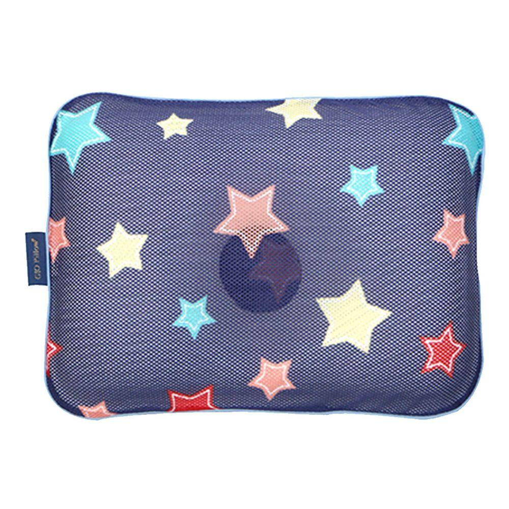 韓國 GIO Pillow - 超透氣護頭型嬰兒枕/防扁頭枕/防蟎枕-單枕套組-夜晚星星 - S/M