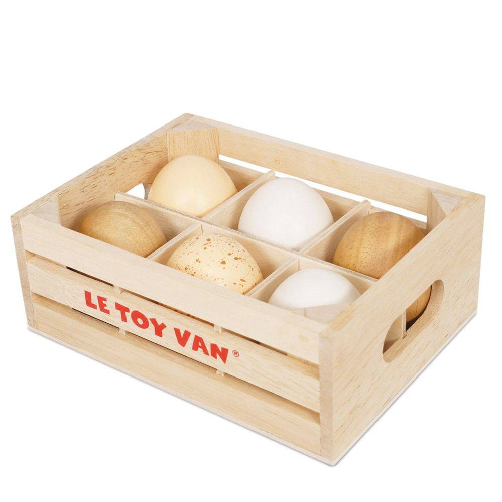 英國 Le Toy Van - 角色扮演 - 農場安心好蛋盒玩具組 (半打)