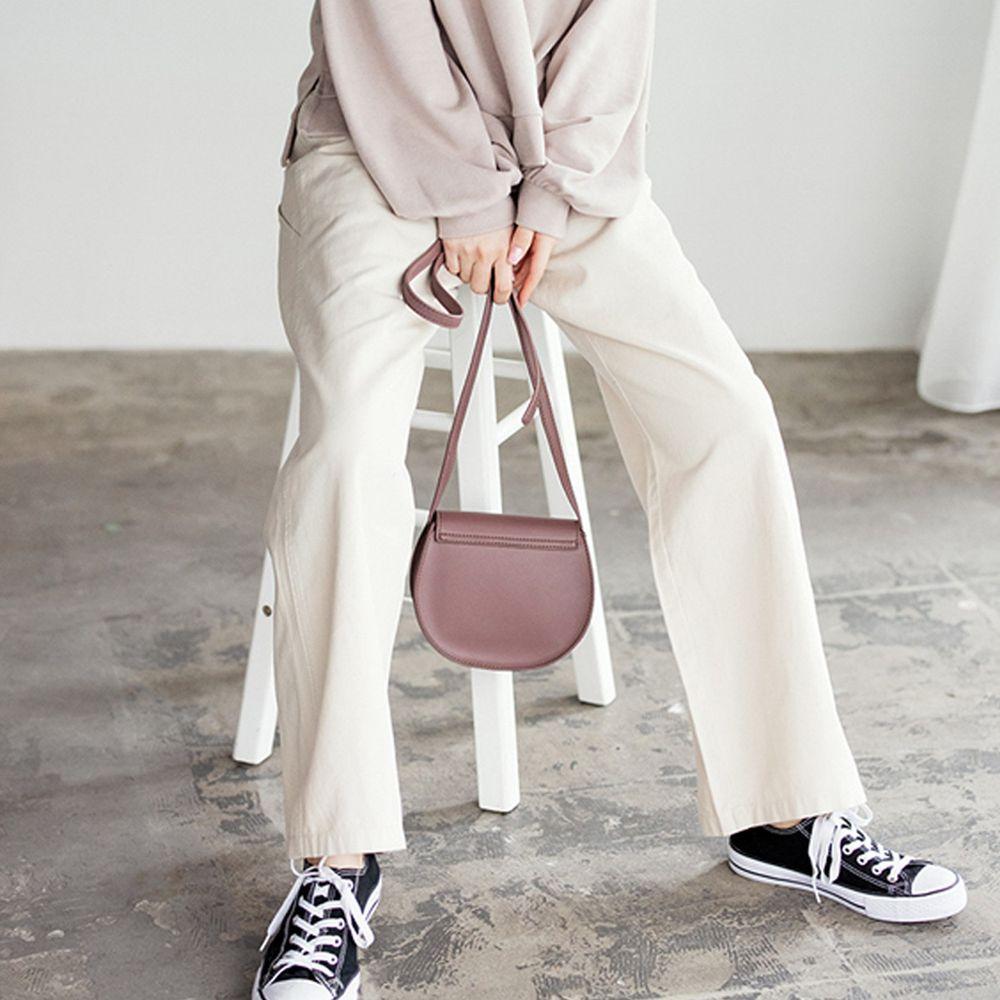 日本 GRL - 帥氣男孩風縫線設計寬褲-象牙白