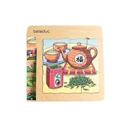 多層木拼圖-茶葉