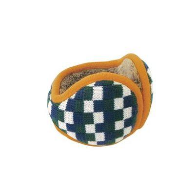 Tehtava北歐風優雅耳罩(成人款)-格紋-綠x芥末
