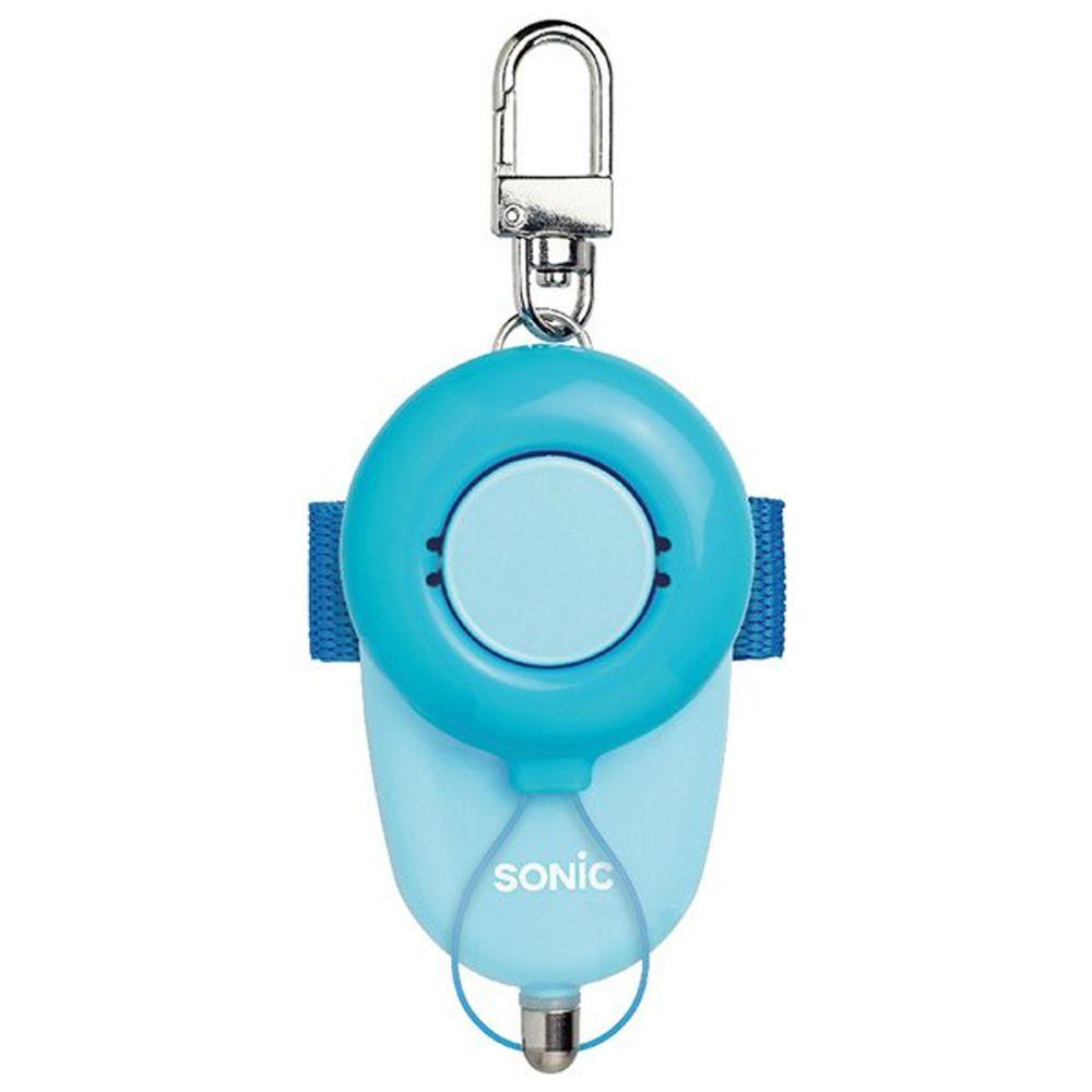 日本文具 SONIC - 安全防身警報器 93分貝 生活防水 (藍)-附測試用4號電池