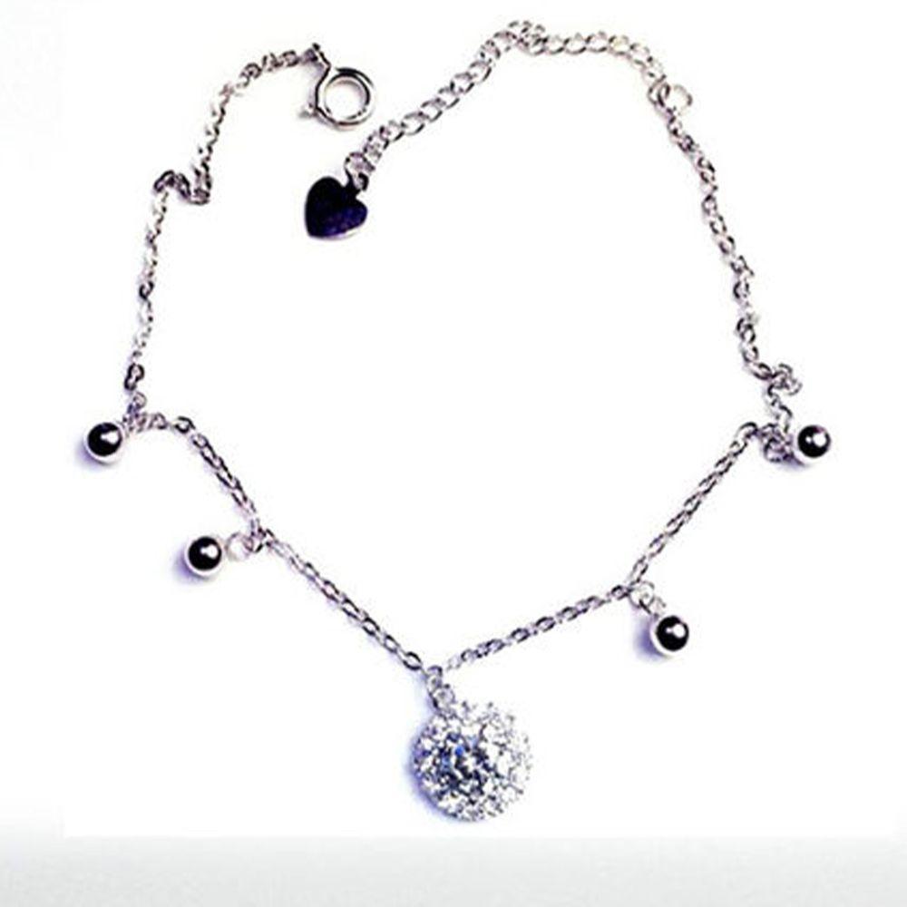 美國ILG鑽飾 - 巴黎情人手鍊-頂級美國ILG鑽飾,媲美真鑽亮度的鑽飾-加贈高級珠寶級絨布盒1個-s925純銀外層電鍍頂級白K金