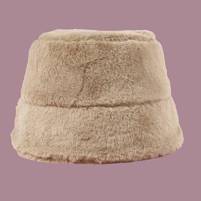 時尚毛絨漁夫帽