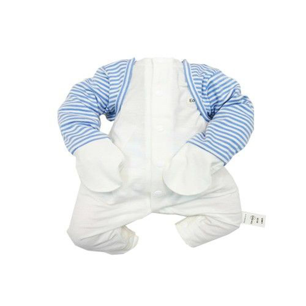 Edenswear 伊登詩 - 鋅健康防抓袖套背心-藍白條紋