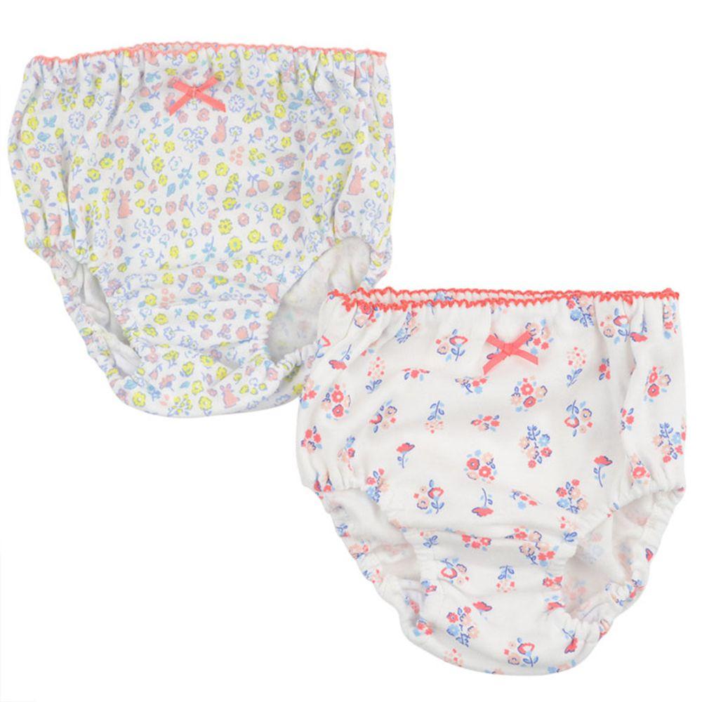 akachan honpo - 內褲2件組-小花-白色
