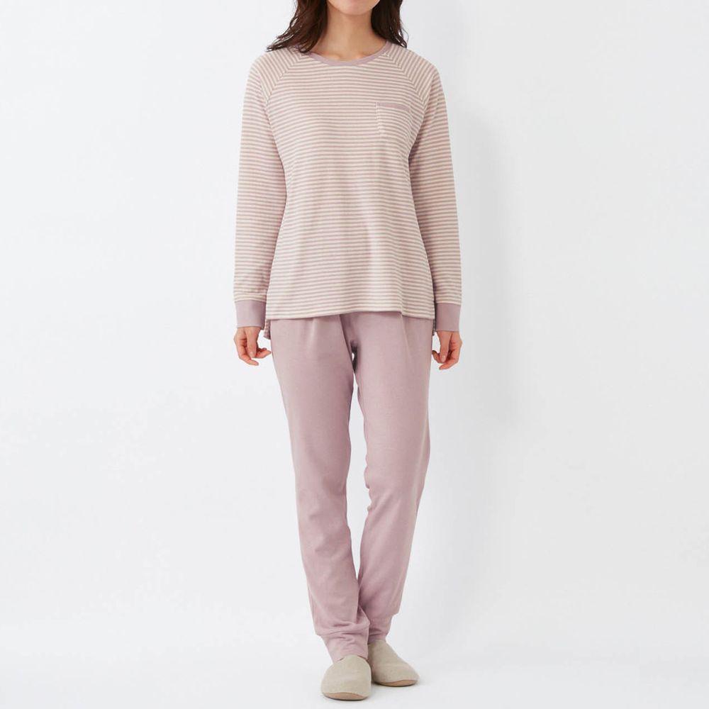 日本千趣會 - 100%純棉 (媽媽)發熱家居服/睡衣(背部加厚)-紫羅蘭
