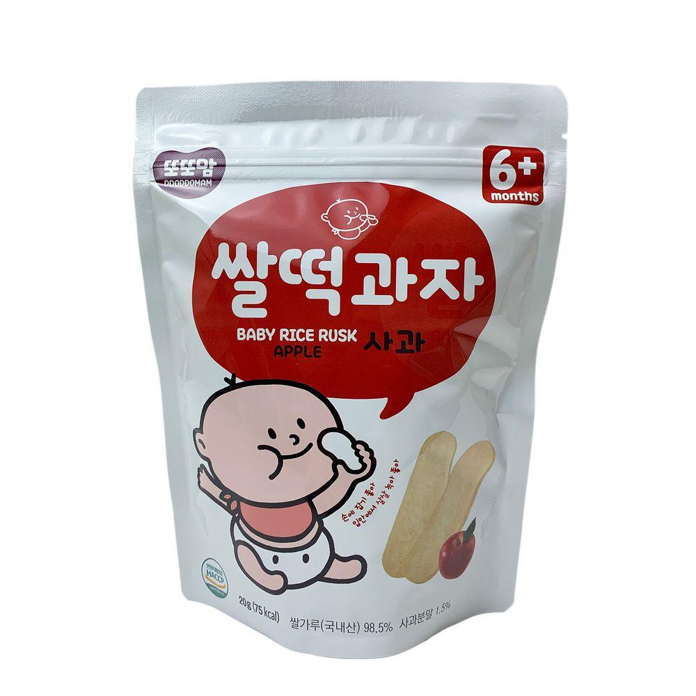 韓爸田園日記 - 米片片米餅-蘋果口味(6個月以上)-1包/20公克