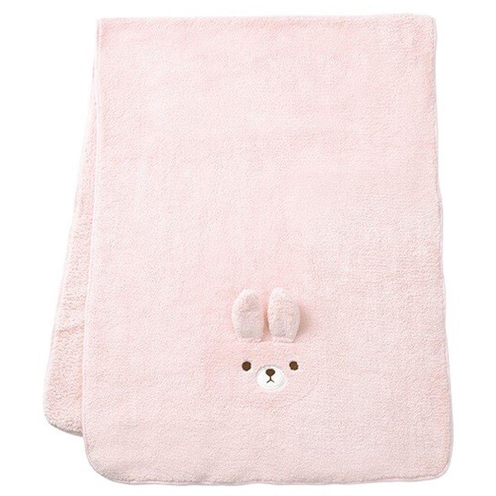 日本 LIV HEART - 5倍吸水力蓬鬆柔軟 長毛巾-兔子-粉 (40x100cm)