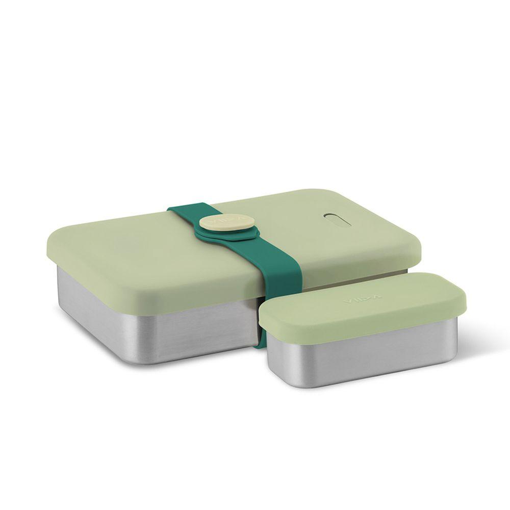 VIIDA - KASTEN便當盒-316抗菌不鏽鋼-綠 (1000ml+220ml)