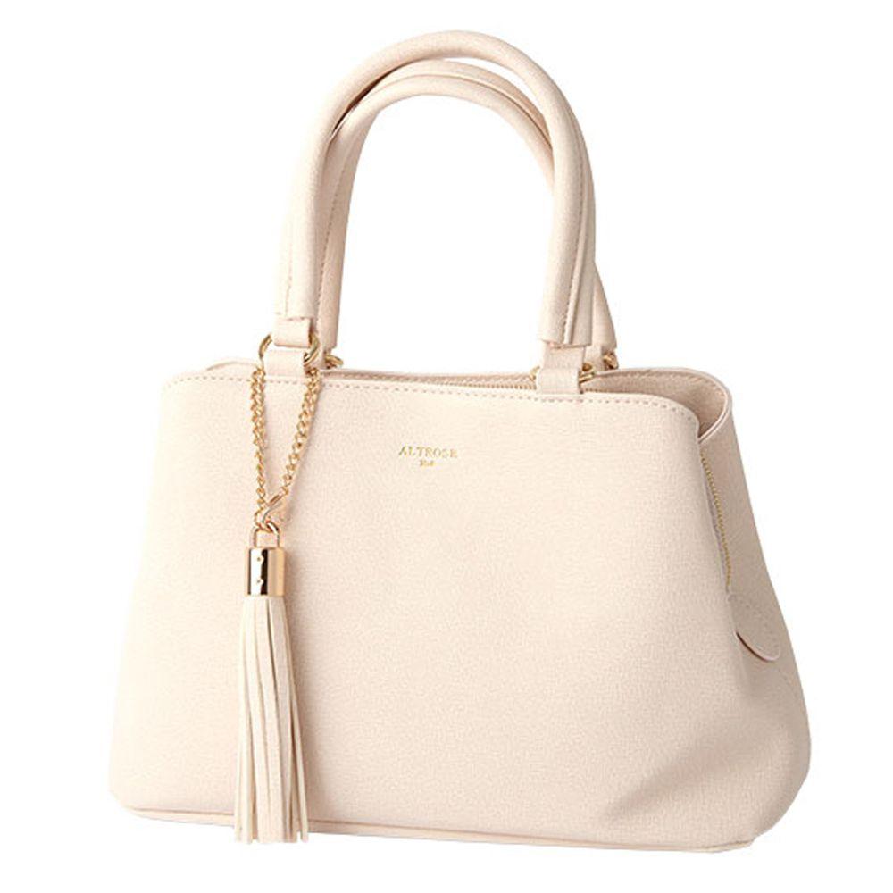 日本服飾代購 - 【ALTROSE】俐落金屬流蘇側背包-象牙白 (28x19x11.5cm)