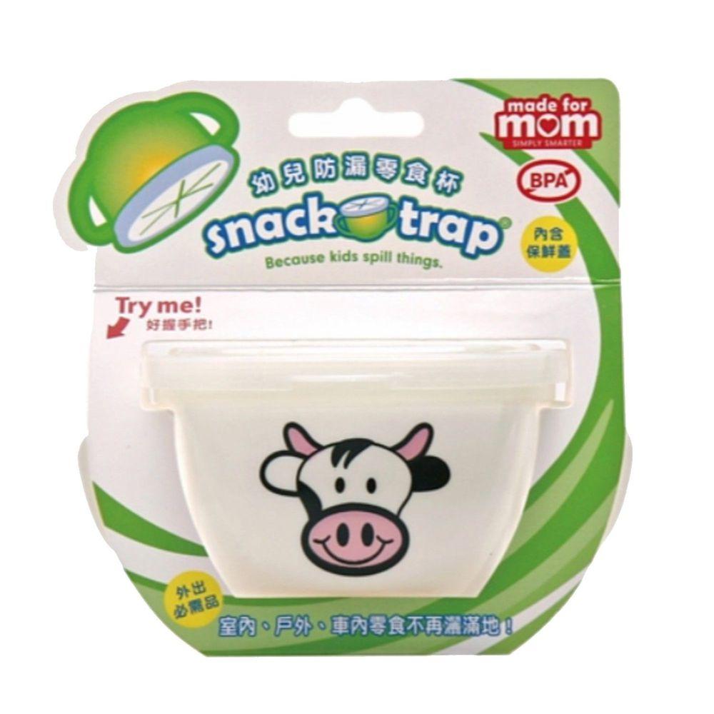 美國 Snack-Trap - 防漏零食杯組(含保鮮蓋)-白底乳牛