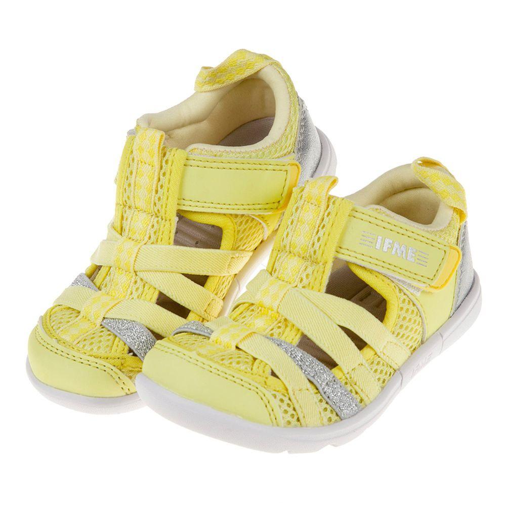日本IFME - 黃色亮銀兒童機能水涼鞋