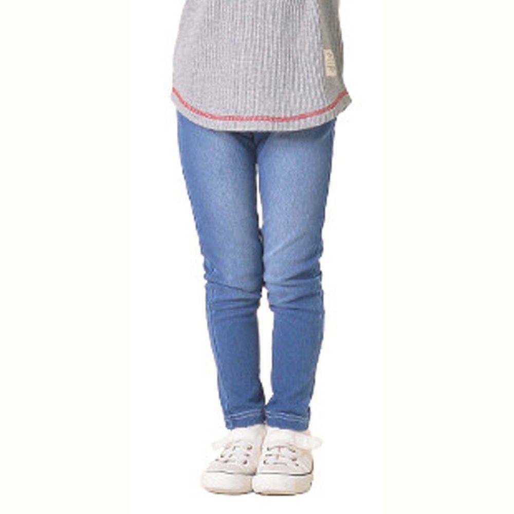 日本 TORIDORY - 百搭舒適內搭褲-丹寧水洗-正藍