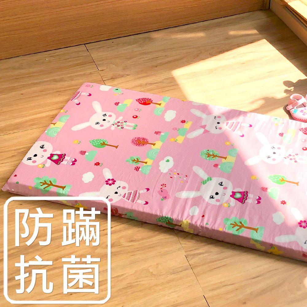 鴻宇HONGYEW - 嬰兒幼童乳膠床墊+布套組-萌萌兔-粉色 (60x120x4 cm)