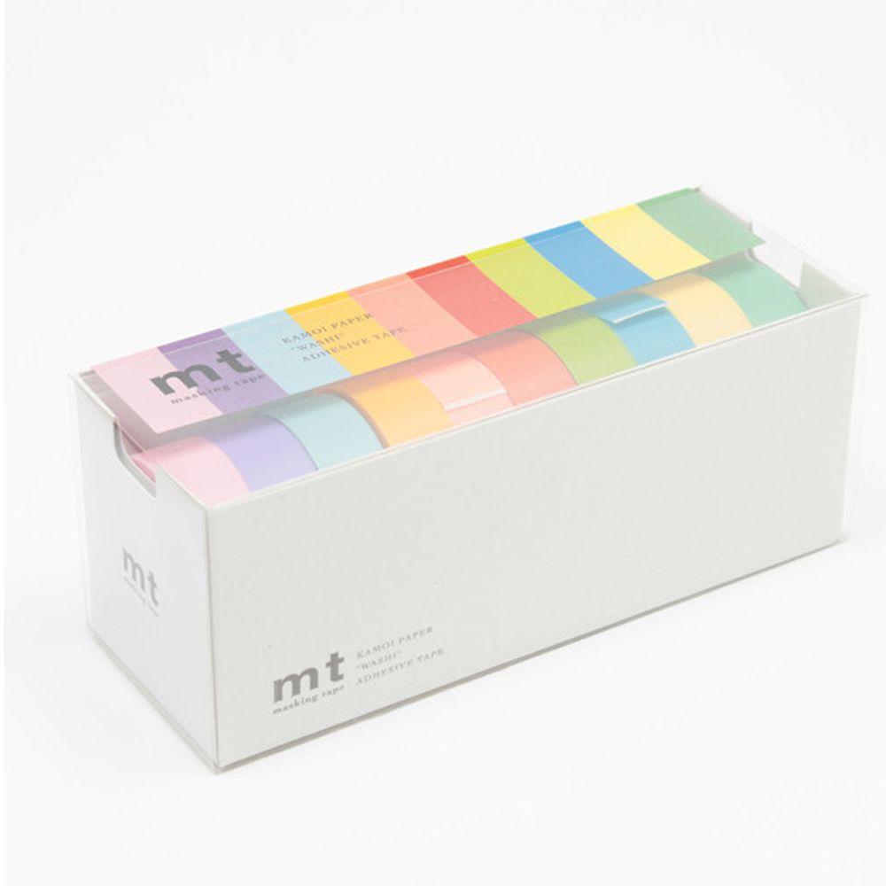 日本文具代購 - MT 日本製紙膠帶超值多入組-純色10色-15mm