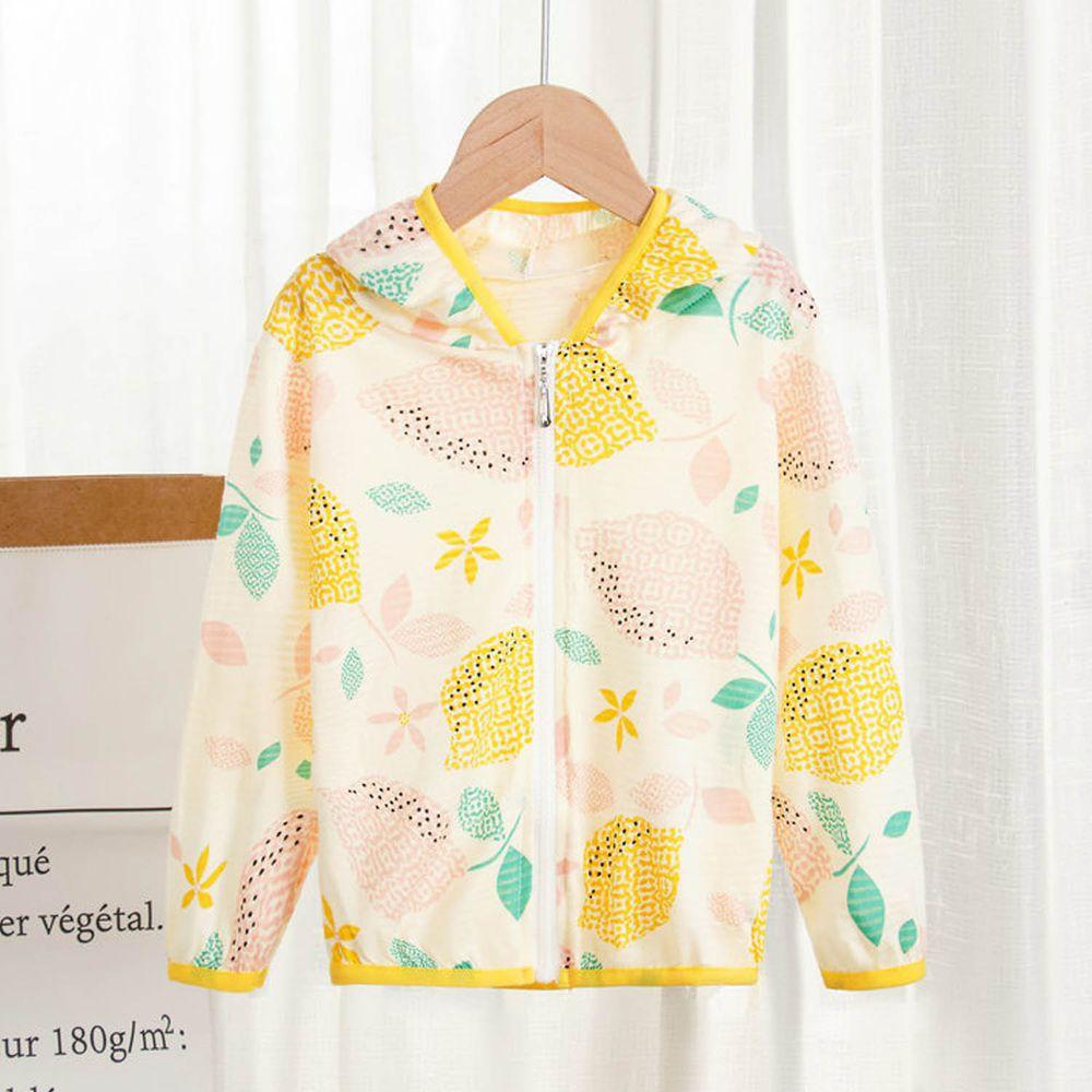 純棉舒適防蚊防曬外套-黃色檸檬