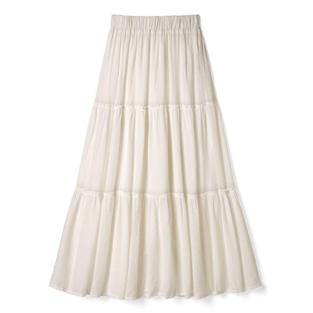 日本 GRL - 浪漫三層蛋糕長裙-氣質米