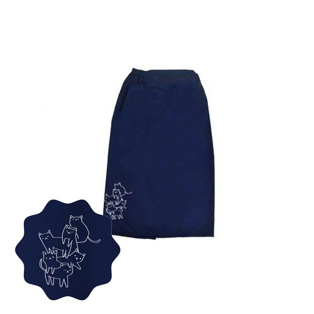 貝柔 Peilou - 貝柔貓日記防風防潑水遮陽裙-疊疊樂-丈青