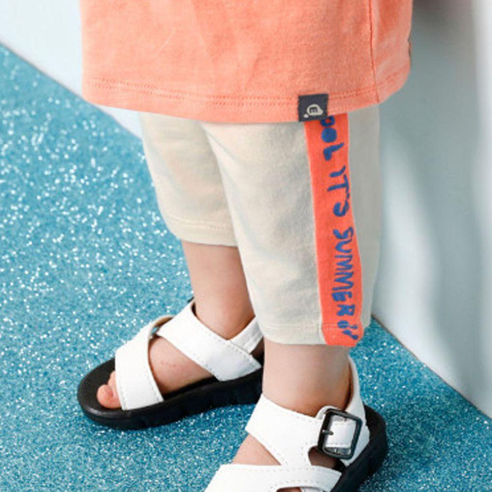 韓國 milk mile - 側邊字母色塊內搭褲-米杏