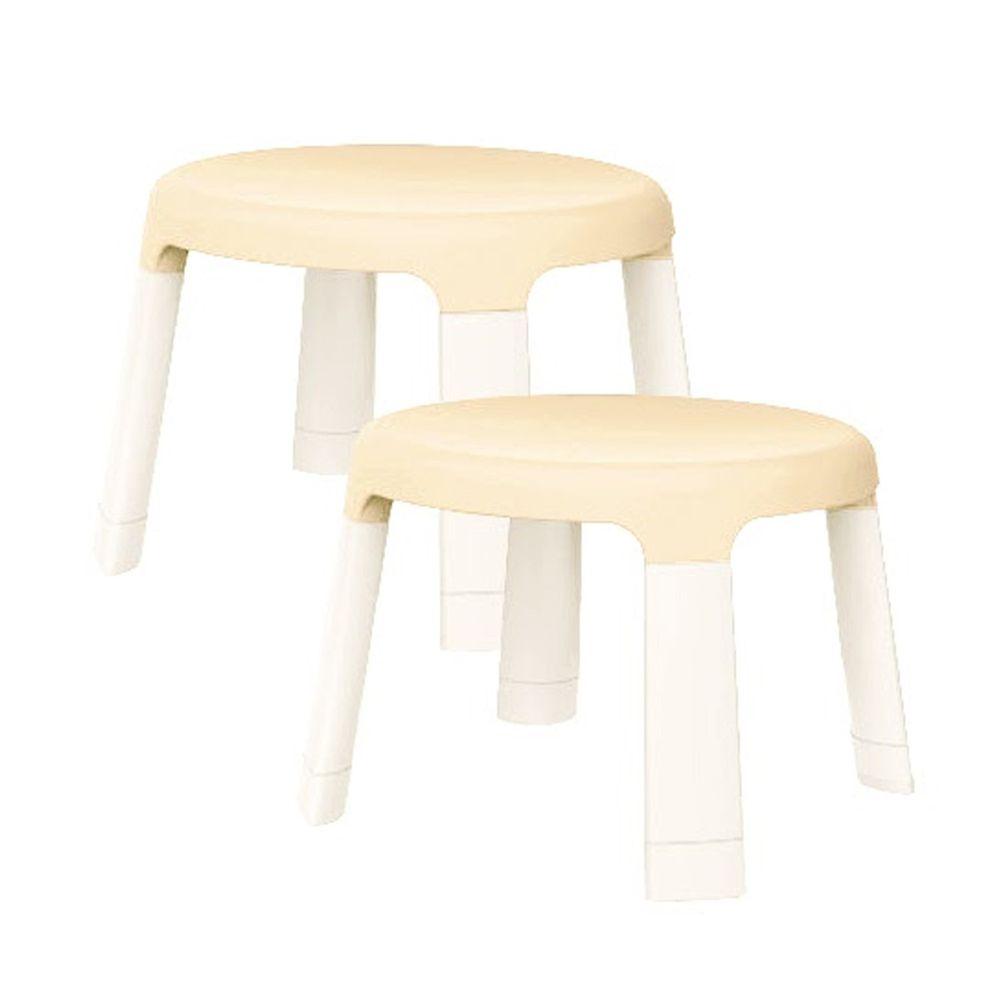 新加坡 Oribel - 遊戲桌配件 二入椅-奶油色