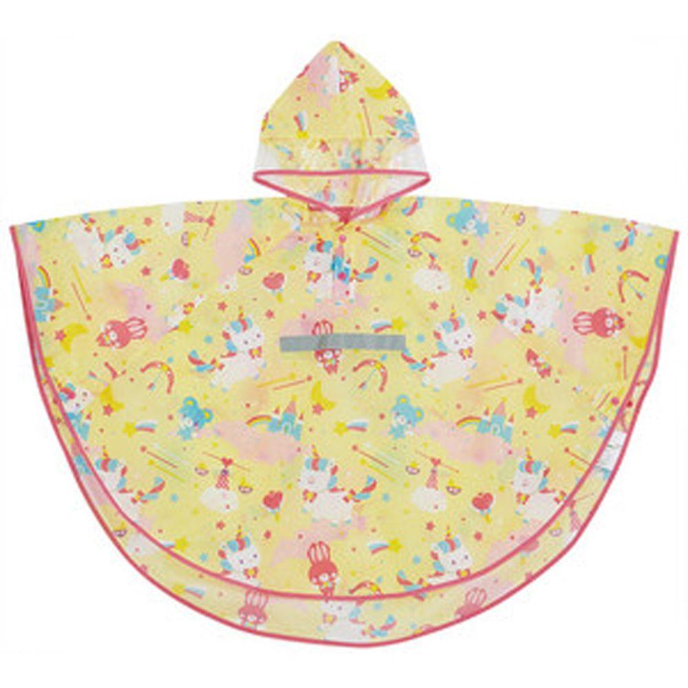 日本 SKATER 代購 - 兒童防雨斗篷(附安全反光條/收納袋)-粉嫩獨角獸 (110~125cm通用)