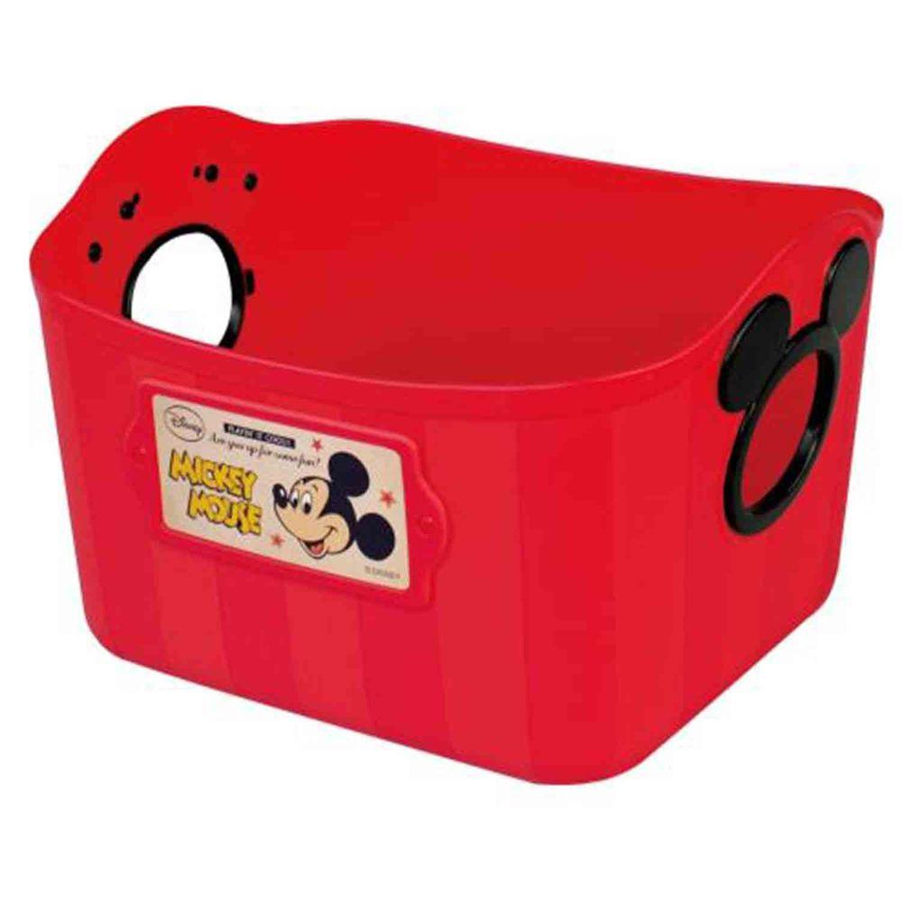 日本錦化成 - 日本製置物籃-米奇-紅/大頭 (25*19*16cm)-2.5L