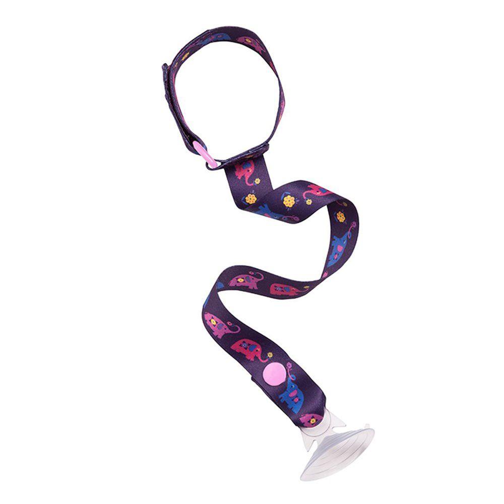 英國 JoJo Maman BeBe - 杯子/玩具防掉落帶兩件組-紫大象