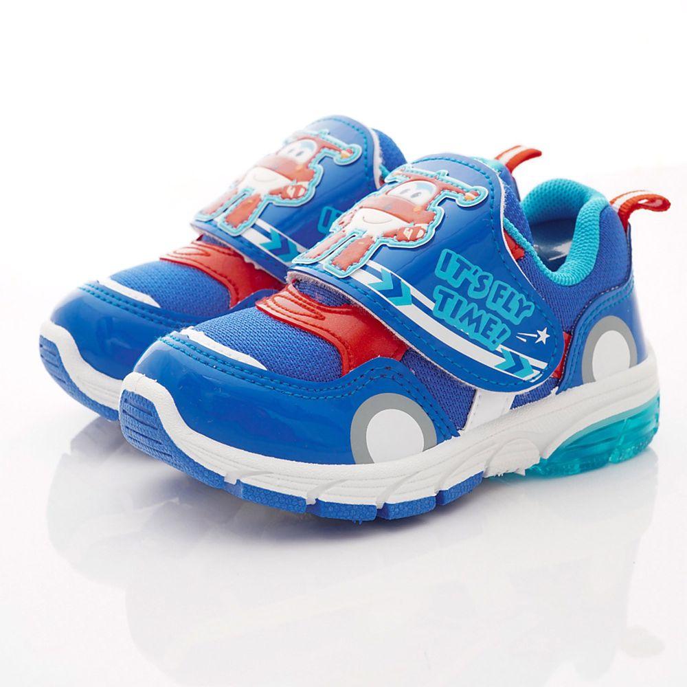 Super Wings - 卡通童鞋-LED電燈運動鞋款(中小童段)-藍-日本尺寸cm