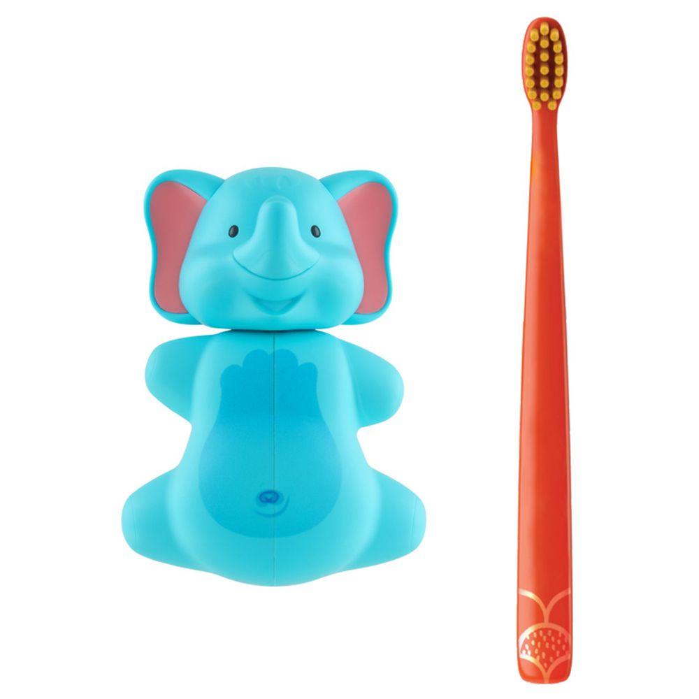 Flipper - 專利輕觸開關牙刷架(COMBO PACK)-趣味動物-大象