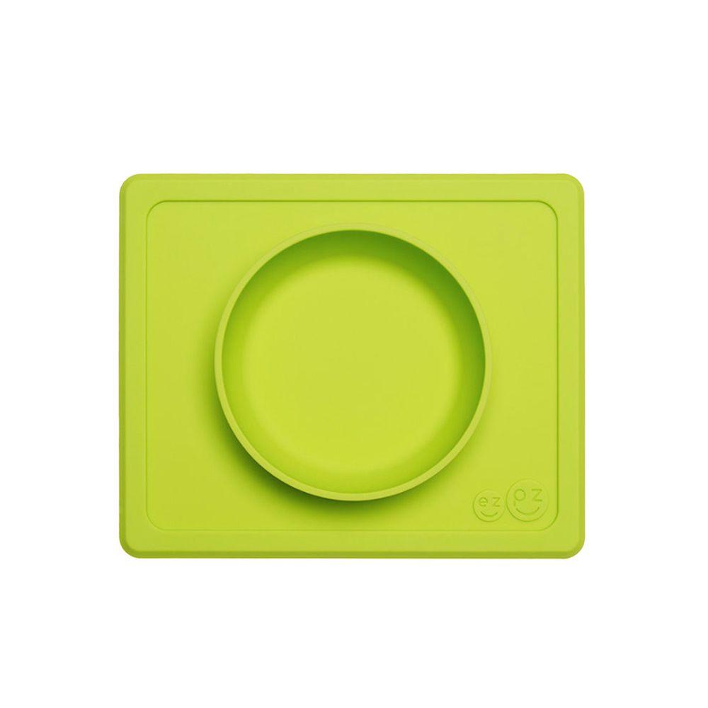 美國 ezpz - 快樂餐盤 Happy Mini bowl-迷你餐碗-蘋果綠 (21.6cm*17.8cm*3.18)-240ml