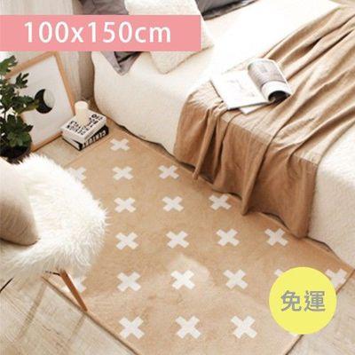 寶寶爬行毯-淡雅十字-米色 (100*150cm)